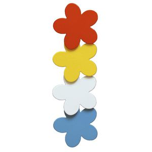 Three By Three Metal Magnets Flowers 4 Pack