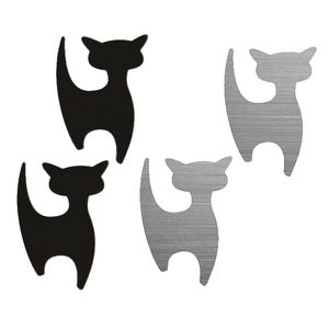 Three By Three Shape-Up! Cat Magnets Black