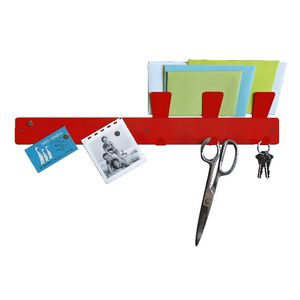 Three By Three Magnetic Strip Bulletin Board Red