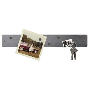 Three By Three Magnetic Mini Strip Bulletin Board Stainless