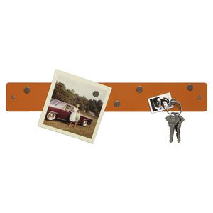 Three By Three Magnetic Mini Strip Bulletin Board Orange