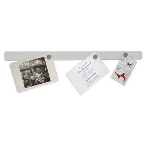 Three By Three Self-Stick Strip Magnetic Bulletin Board White