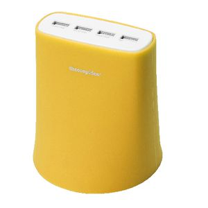 TCI 4 USB Charging Station Yellow