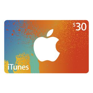 Apple iTunes Card $30