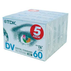 TDK Mini DV 60 Minute Camcorder Tapes 5 Pack