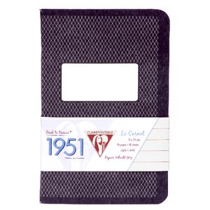 Clairefontaine 1951 Lined Pocket Notebook 96 Page Black