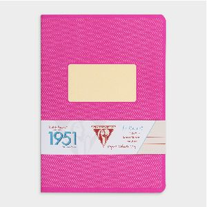 Clairefontaine 1951 Lined A5 Notebook 96 Page Pink