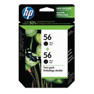 HP 56 Black Ink Twin Pack