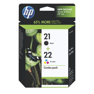 HP 21 Black & 22 Tri-Colour Ink Combo Pack