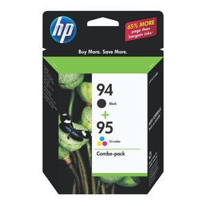 HP 94 and 95 Ink Cartridges Black and Tri-Colour