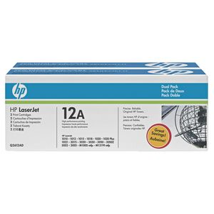 HP 12A Black Toner Twin-Pack