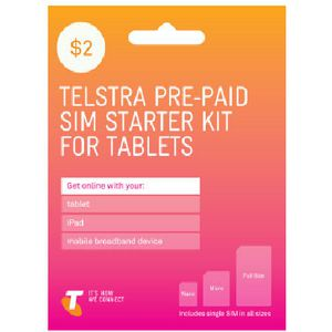 Telstra $2 Tablet SIM Card