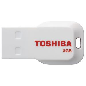 Toshiba 8GB Boxer USB Flash Drive Red and White