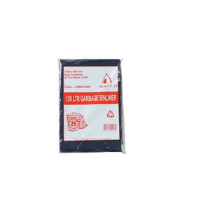 Tailored Packaging Heavy Duty Bin Liners 120L 25 Pack Black
