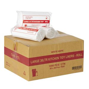 Tailored Packaging Kitchen Bin Liners 36L 1000 Pack White