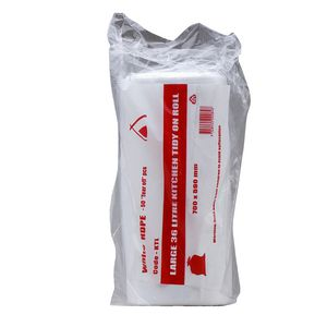 Tailored Packaging Kitchen Bin Liners 36L 50 Pack White