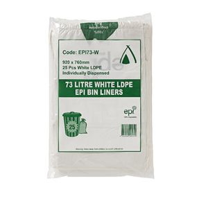 Tailored Packaging Degradable Bin Liner White 73L 25 Pack