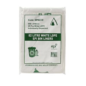 Tailored Packaging Degradable Bin Liner White 82L 25 Pack