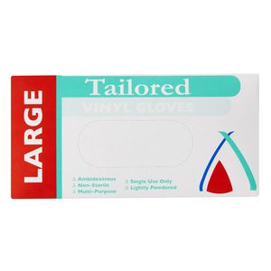 Tailored Packaging Large Vinyl Gloves Clear 100 Pack