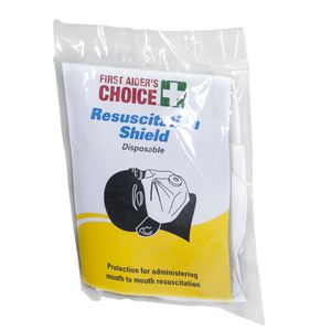 First Aider's Choice Disposable Resuscitation Face Shield