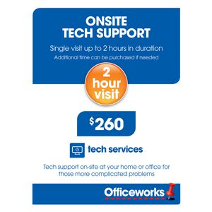 Onsite Tech Support 2 Hour Single Visit