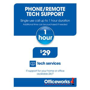 Phone and Remote Tech Support 1 Hour Single Call