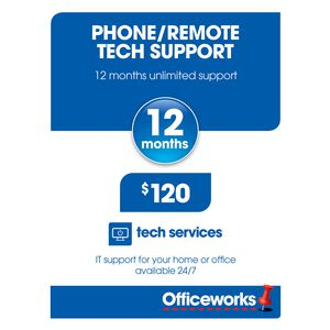 Phone and Remote Tech Support 12 Months