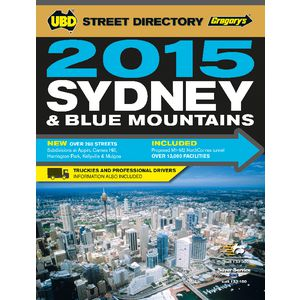 UBD Gregory's Sydney Street Directory 51st Edition 2015