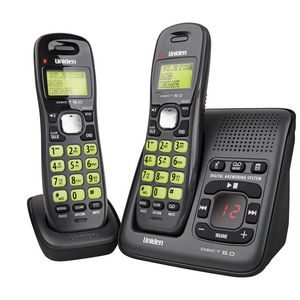 Uniden 1635+1 Dect Cordless Phone Answer Machine 2 Handsets