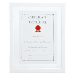 Lifestyle Brands Floating Certificate Frame A4 25 Pack White