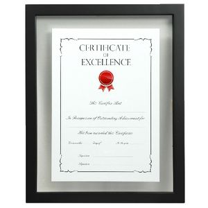 Lifestyle Brands Floating Certificate Frame A4 25 Pack Black