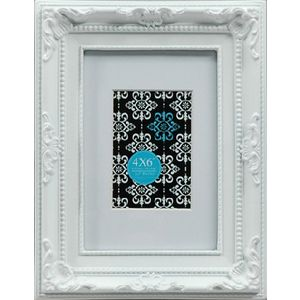 "Emporium Frame 4 x 6"" with 2 x 3"" Opening White"