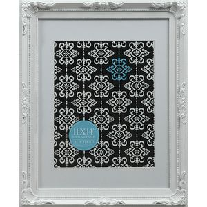 "Emporium Frame 11 x 14"" with 8 x 10"" Opening White"