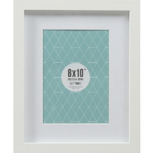 "Promenade Frame 8 x 10"" with 5 x 7"" Opening White 10 Pack"