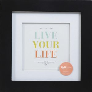 "Living Frame 8 x 8"" with 5 x 5"" Opening Black 5 Pack"