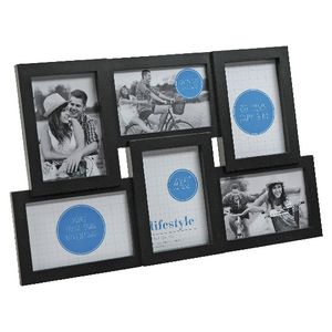"Lifestyle Brands Frame with 6 4x6"" Openings 10 Pack Black"