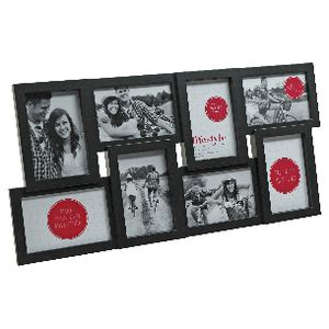 "Lifestyle Brands Gallery Frame with 8 4x6"" Openings Black"