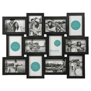 "Lifestyle Brands Frame with 12 4x6"" Openings 5 Pack Black"
