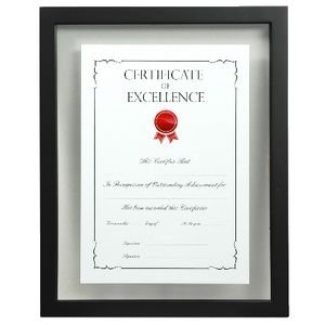 Lifestyle Brands Floating Certificate Frame A4 Black