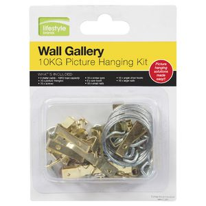10kg Picture Hanging Kit 66 Pieces