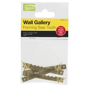 Framing Saw Tooth Hooks 4 Pack