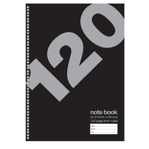 120 Page Value Spiral A4 Notebook