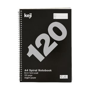 Value A4 Spiral Notebook 120 Page