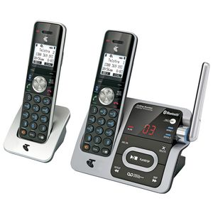 Telstra 12750 Cordless Phone Answering Machine 2 Handsets