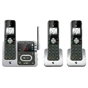 Telstra 12752 Cordless Phone Answering Machine 3 Handsets