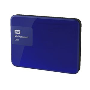 WD My Passport Ultra 1TB Portable Hard Drive Noble Blue
