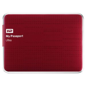 WD My Passport Ultra 1TB Portable Hard Drive Red