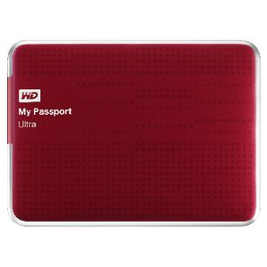 WD My Passport Ultra 2TB Portable Hard Drive Red