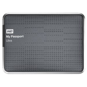 WD My Passport Ultra 2TB Portable Hard Drive Titanium