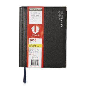 Upward Deluxe B5 Week to View Vertical 2016 Diary Black